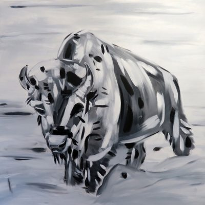 2021_paintings_bison-heart-revisited_01_adrian-stimson