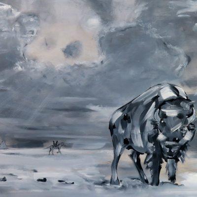 2021_paintings_bison-revolution_03_adrian-stimson